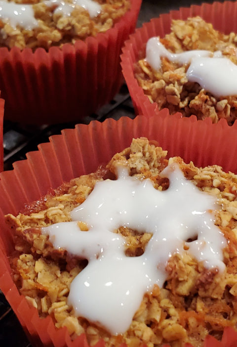Heathy Carrot Cake Muffins